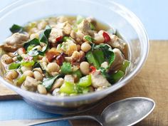 White-Bean Chili from #FNMag #myplate #protein #veggies