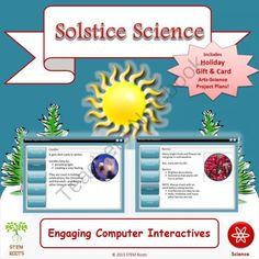 Solstice Science STEM/STEAM Lesson Plans (NGSS 1-ESS1/1-ESS-2) from STEM Roots on TeachersNotebook.com -  (65 pages)  - Great for Christmas/Winter Holiday, January or February!  Teach your K-3 students about the science behind the winter season with three engaging lessons.