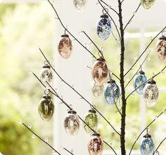 easter mercury glass tree