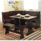 Nook 3 Piece Dining Set in Espresso