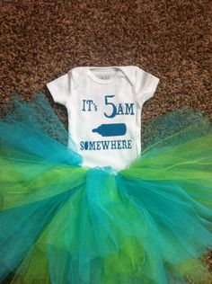 it's 5am somewhere onesie baby onesie funny by TheHomemadeNest, $15.00