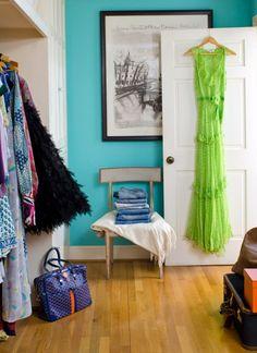 tiffany blue closet!