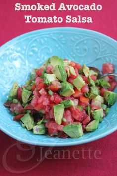 Smoked Avocado Tomato Salsa Guacamole Recipe