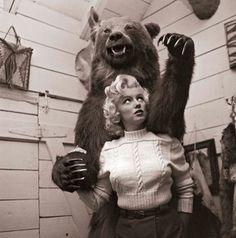 vintag, peopl, marilyn monroe, bears, john vachon