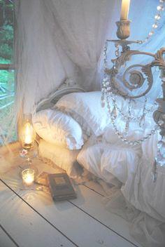 Romantic white bedroom