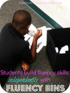Using Fluency Bins to help students build their fluency skills independently
