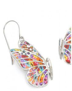 Butterfly Earrings by Adina Plastelina.