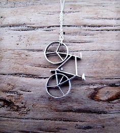 Bicycle Charm Necklace by Muses & Rebels on Scoutmob Shoppe