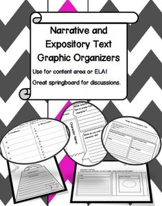 Use a graphic organizer in the shape of a character's purse or wallet to analyze character traits. Narrative and Expository Text Graphic Organizers
