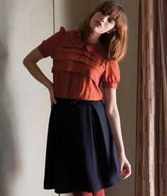 nice outfit, outfits, fashion, sessun, orang, cloth, peter pan collars, blous, outfit style