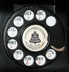 Dial of vintage telephone with alphabet numbers Repinned by www.silver-and-grey.com