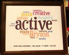 endoftheyear gift, teach junki, school, gift ideas, teacher, kid, word clouds, birthday gifts, student gifts