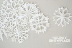 Holiday Snowflakes Tutorial