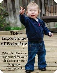Pointing is a VERY important skill for toddlers. Find out why this skill is crucial for your child's speech and language development.
