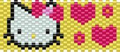 Hellokittyhead Kandi Pattern