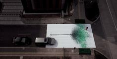 Green Pedestrian Crossing in China Creates Leaves from Footprints