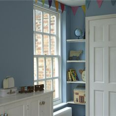 #kids bedroom #farrow & ball #lulworth blue