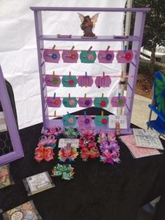 Hair Bow Hanger Repurpose Shelf  ... Craft Show Booth Display Idea - Our Happy Casita: Craft Show