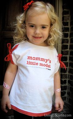 No Sew - Easy T-Shirt Craft Tutorial | Living Locurto - Free Printables, How To DIY Ideas, Crafts & Party Ideas.