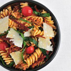 #Fusilli with #Spinach and Sun-Dried-Tomato #Pesto