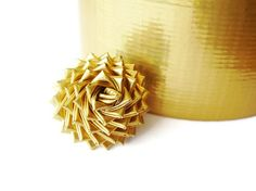 Gold Duct Tape Rose Ring - Metallic Duck Tape Ring