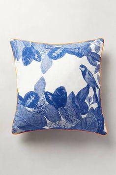 Beautiful Blue Print Pillow