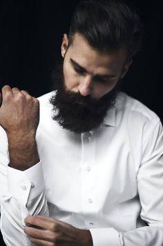 beards, white hair, dress shirts, men hair, button, white shirts, classic white, barber, bearded men