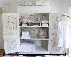 Give your Closet a Makeover with Wallpaper So pretty