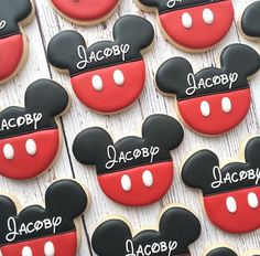 1 dozen large Disneys Mickey Mouse Sugar Cookies