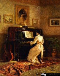 Girl at the Piano (also known as The Piano)  Theodore Clement Steele