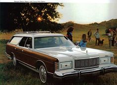 Mercury Station Wagon  - we had one like this in red.  I loved how headlights opened.