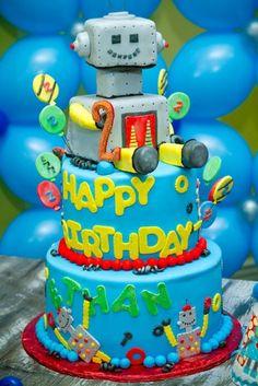 Robot Party-The Robot Cake
