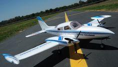 5-CH Grand Cruiser 1280MM Twin Engine Brushless RC Plane w/ E-Retracts RTF