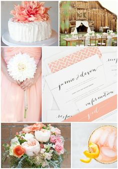 Country chic and peach wedding inspiration featuring pretty calligraphy invitations - http://www.shineweddinginvitations.com/wedding-invitations/flowing-script-wedding-invitations