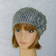 Shades of Grey Classic Women's Teens Beanie by CrochetHatsForYou