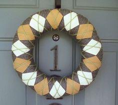 felt and yarn wreath