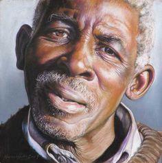 Helena Hugo herb doctor205cm, pastel artist, african pastel, black art, artist helena