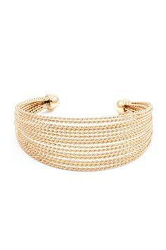 River Cuff Bracelet in Gold