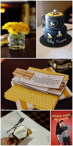 Our bee themed baby shower - thought I would share since it's very pinterest inspired! What Harvey Wore