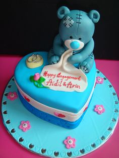 Yummy Baking Tatty Bear Fondant Cake