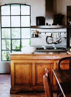 vintage shop counter in kitchen