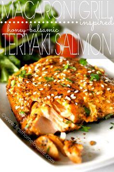 Macaroni Grill Inspired Teriyaki Salmon | First Home Love Life
