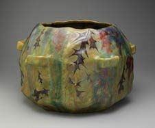 Lucien Lèvy (1865-1953), who later called himself Lèvy-Dhurmer, became artistic director of the Massier Art Pottery in Golfe-Juan, France at the age of twenty-two. He introduced Clement Massier to the lustrous glazes that had been used by the Moorish potters of Spain. lucien lévydhurm, lévydhurm dana, metal glaze, art potteri, clément, ceram, clement massier, 1893 lucien, art nouveau