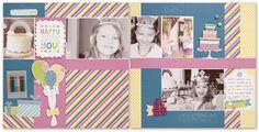 "Confetti Wishes: 12"" x 12"" Happy Birthday Layout"
