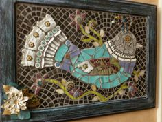 Mosaic Recyled Art Lolori She is a CuckooLove by MedallionHouse, $165.00