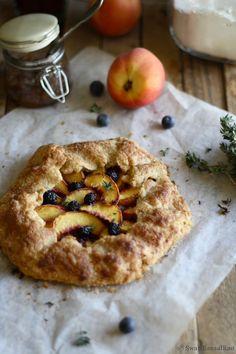 A French Rustic Tart: Peach Galette
