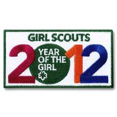 ironon patch, fun patch, 2012 year, girl guid, girl scout