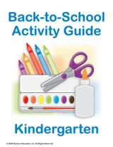 Kindergarten Summer Learning Guide    Print off this guide of fun and educational activities that will help prepare your students over the summer for the kindergarten school year.