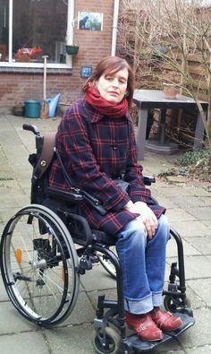 Sometimes in a wheelchair, sometimes not!