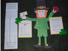 """Patterns for the leprechaun glyph and the graph are included in the unit """"Leprechaun Math and Literacy, K-2.""""  $"""
